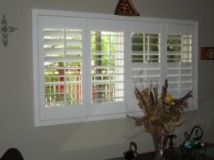 3.5 Wood Shutters with Split Louver Controls